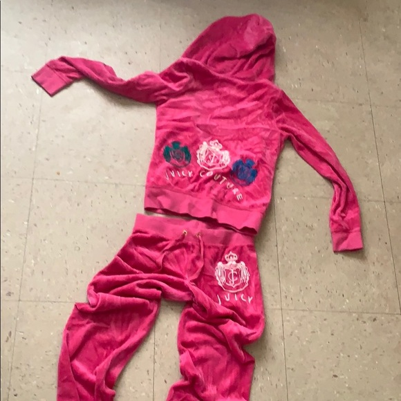 30df92b842 Juicy couture Velour Tracksuit - Girls 10